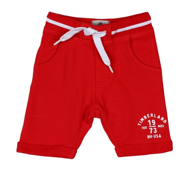 Timberland - SHORTS BABY IN FELPA ROSSI