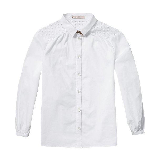 Scotch & Soda - Camicia bianca inserti pizzo