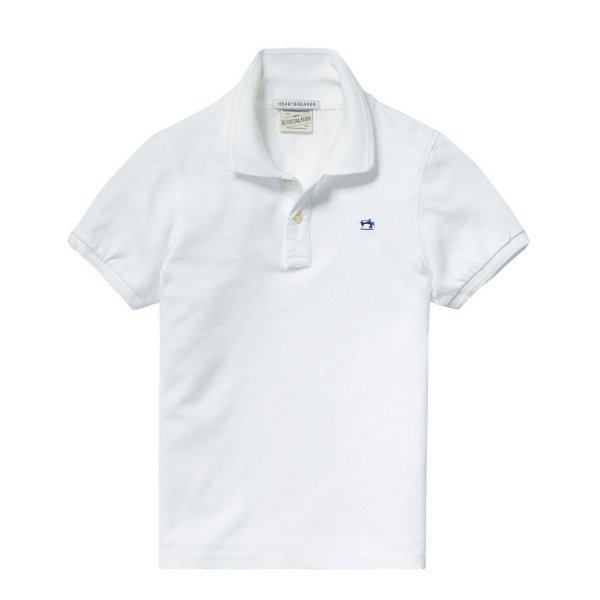 Scotch & Soda - Polo piquè off white