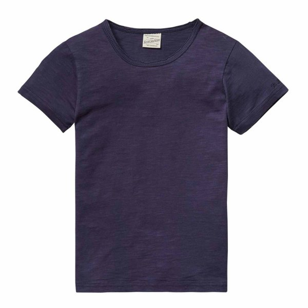 Scotch & Soda - T-shirt cotone blu notte