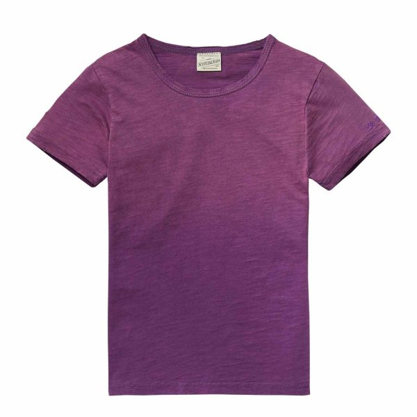 Scotch & Soda - T-Shirt cotone viola