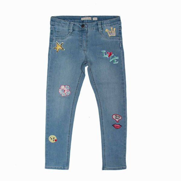 Elsy - JEANS CHIARO BAMBINA CON PATCH