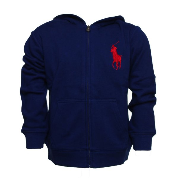 Ralph Lauren - Felpa Blu Big Pony Boy