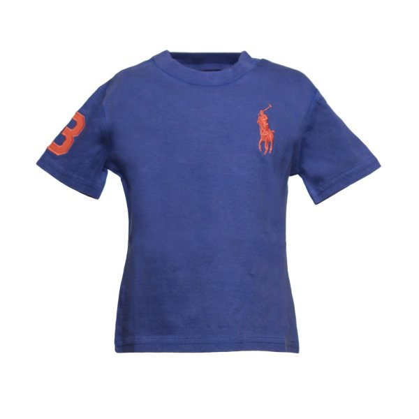 Ralph Lauren - T-SHIRT BLU RL INFANT
