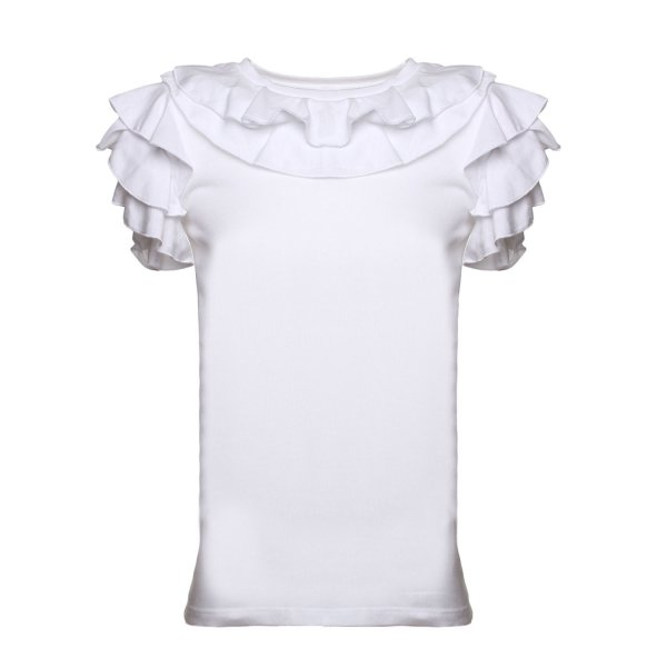 Douuod - T-SHIRT GIRL ROUCHES BIANCA