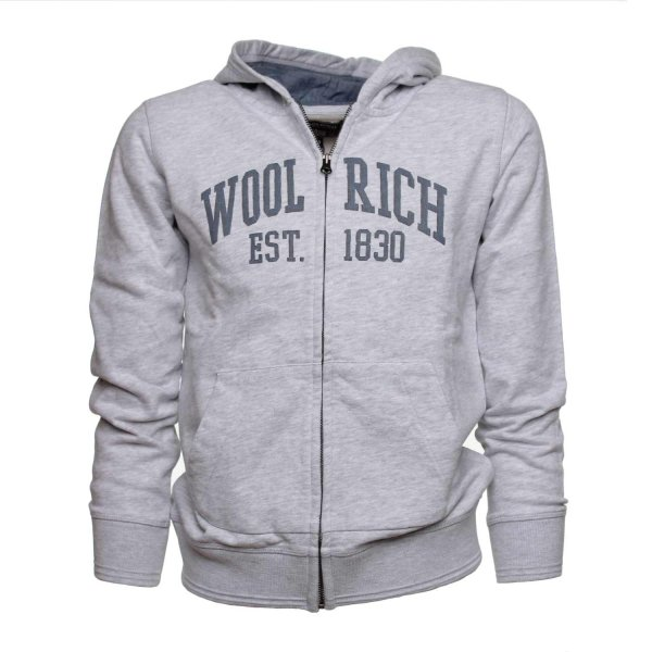 Woolrich - FELPA HOODED GRIGIA JR TEEN