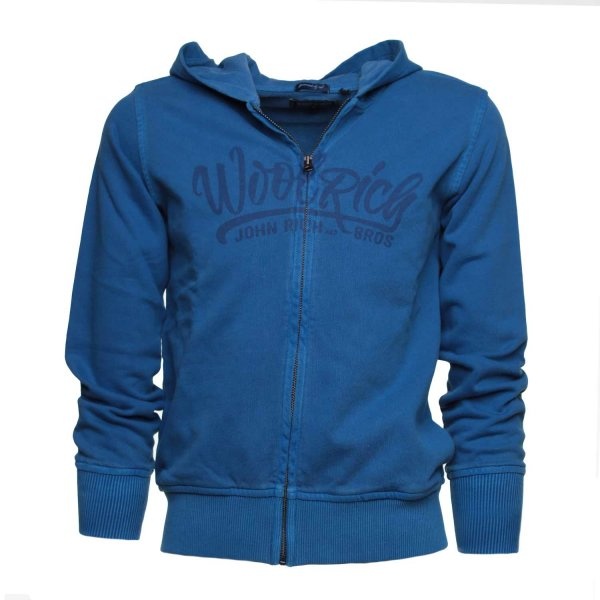 Woolrich - FELPA HOODED BLU JR TEEN