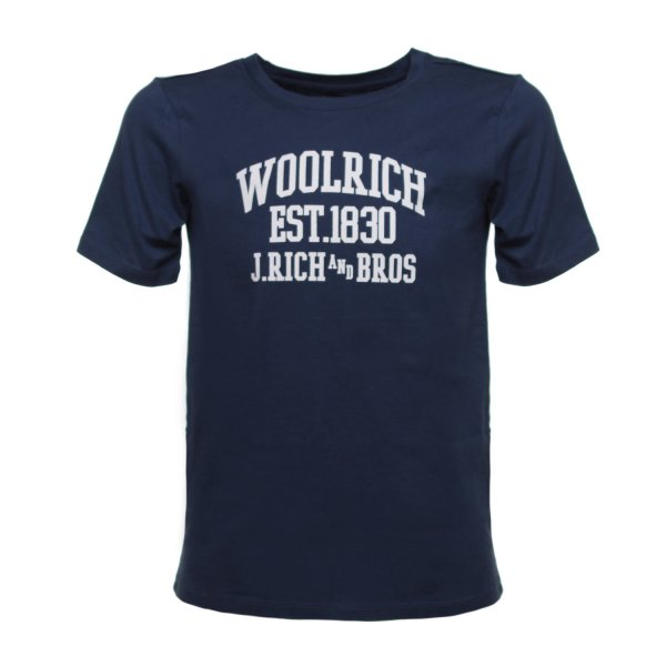 Woolrich - T-SHIRT BLU SCURO JR TEEN