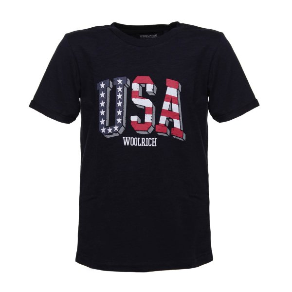 Woolrich - T-SHIRT USA NERA JR TEEN