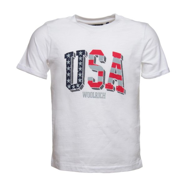 Woolrich - T-SHIRT USA BIANCA JR TEEN