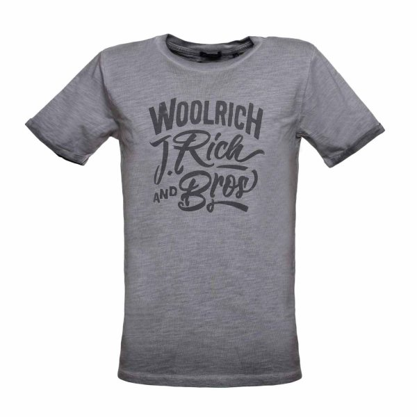 Woolrich - T-SHIRT GRIGIA JUNIOR TEEN