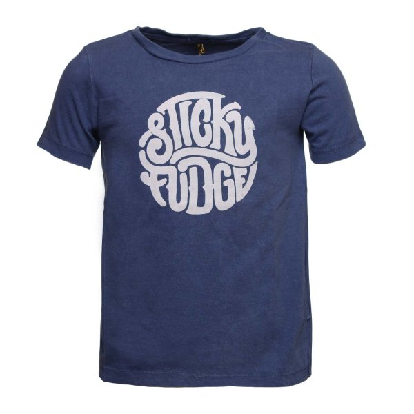 Sticky Fudge - T-SHIRT FINN BLU BAMBINO