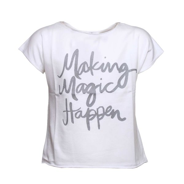 Dreamers - T-shirt con Stampa Argento