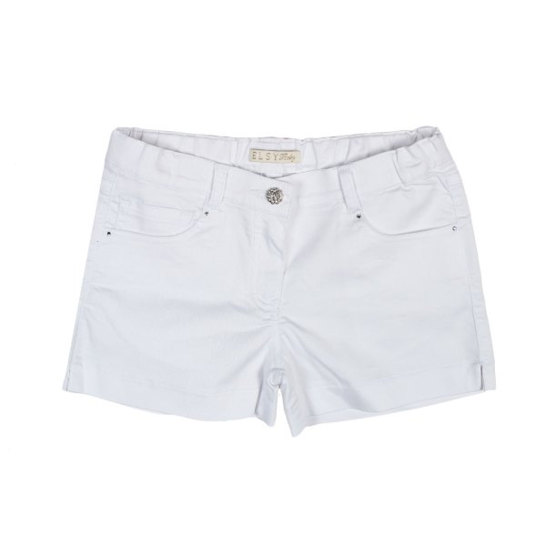 Elsy - SHORTS IN DENIM BIANCO BAMBINA