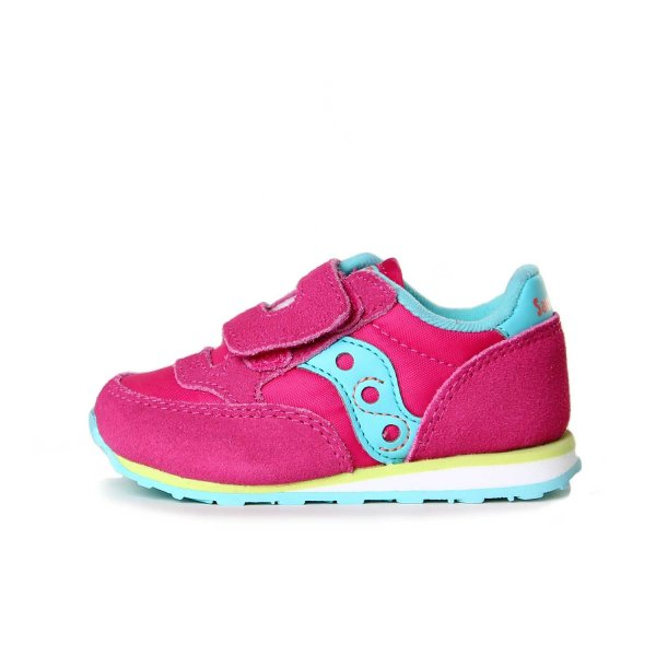 Saucony - SNEAKER JAZZ HL BABY ROSA TURCHESE E LIME