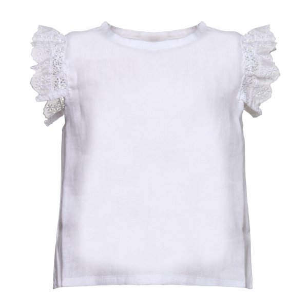 Olive - CAMICIA LINO BIANCA BABY