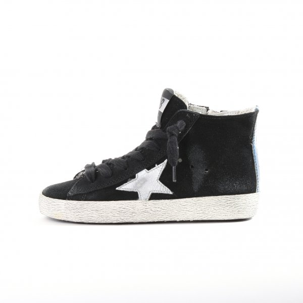 Golden Goose - SNEAKERS FRANCY CAMOSCIO STELLA IN PELLE - JUNIOR