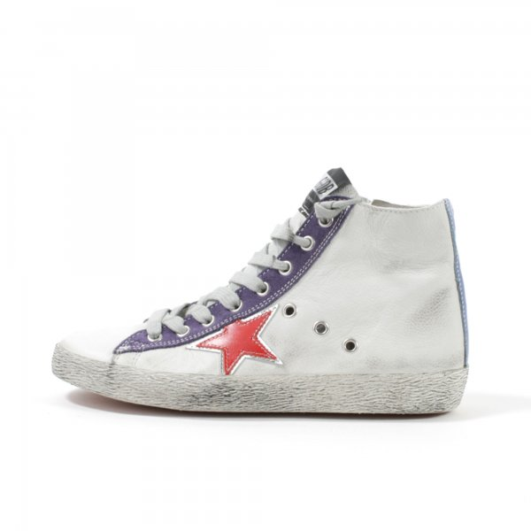 Golden Goose - SNEAKERS FRANCY IN NAPPA BIANCHE TEEN