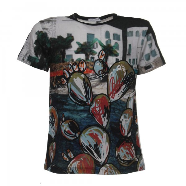 Printed t-shirt by Dolce & Gabbana Junior - annameglio.com shop online