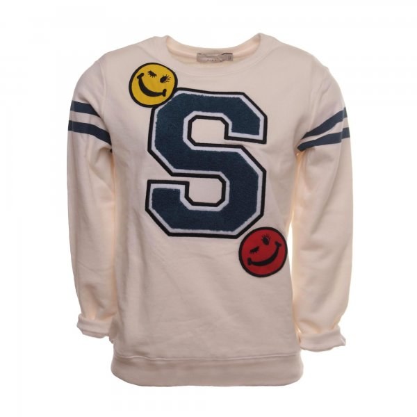 Stella Mccartney - FELPA SMILE PANNA BAMBINA E TEENAGER