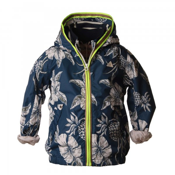 Scotch & Soda - Giacca bimbo in nylon blu stampa floreale