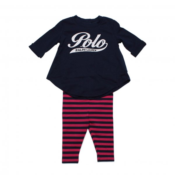 Ralph Lauren - BABY SET T-SHIRT E LEGGINS NAVY STYLE