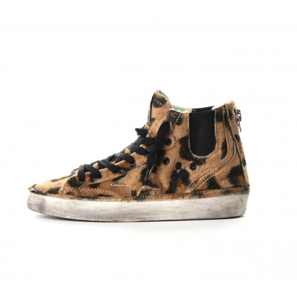 Golden Goose - SNEAKERS BLAZE LEOPARD IN FINTA PELLICCIA JUNIOR