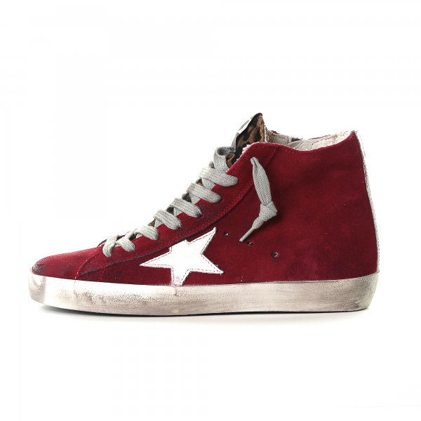 Golden Goose - SNEAKERS FRANCY ROSSA IN CAMOSCIO TEEN