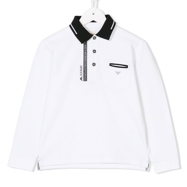 Armani Junior - POLO BIANCA E NERA JR TEEN