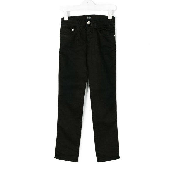 Armani Junior - JEANS NERO JR E TEEN