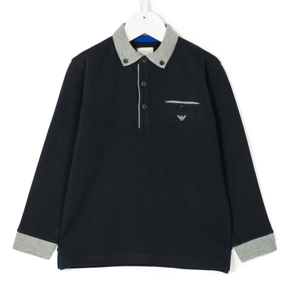 Armani Junior - POLO BLU E GRIGIA JR TEEN