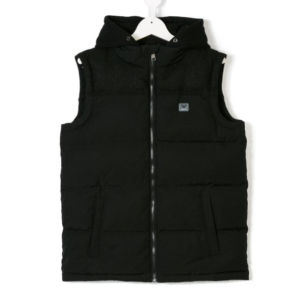 Armani Junior - PIUMINO GILET NERO JR TEEN