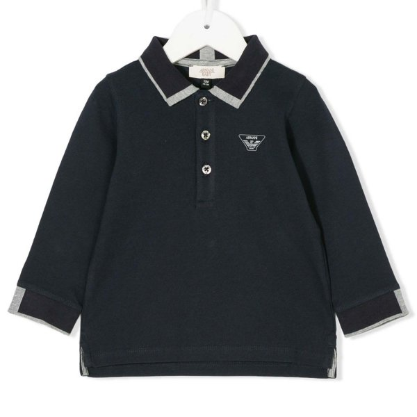Armani Junior - POLO BLU SCURO BABY