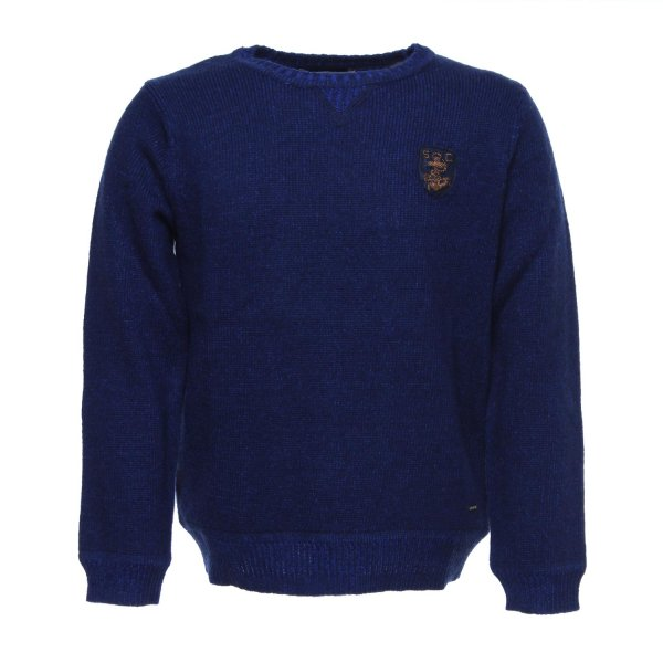 Scotch & Soda - PULLOVER BOY BLU COBALTO