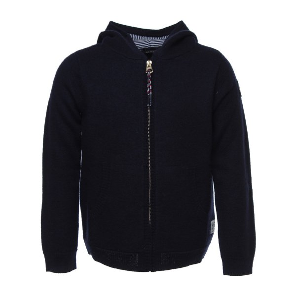 Scotch & Soda - CARDIGAN ZIP BLU JR TEEN