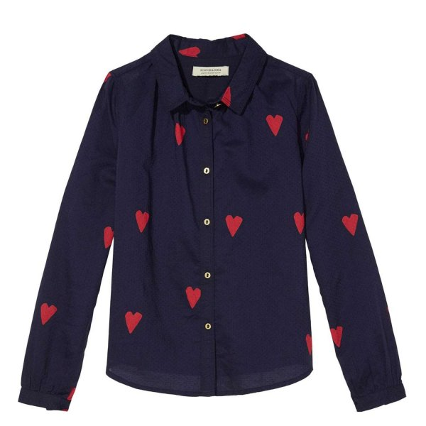 Scotch & Soda - CAMICIA BLU A CUORI