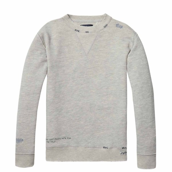 Scotch & Soda - FELPA JR TEEN GRIGIA