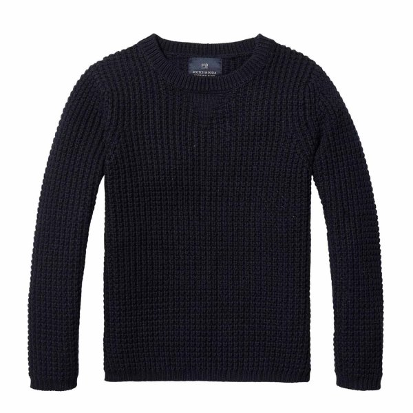 Scotch & Soda - PULLOVER BOY BLU