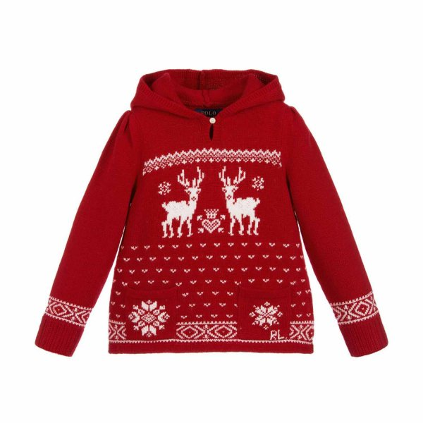 Ralph Lauren - MAGLIONCINO ROSSO RL INFANT