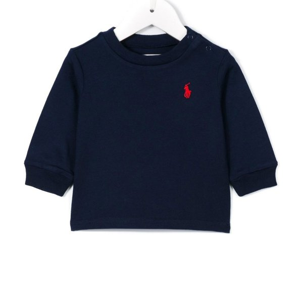 Ralph Lauren - FELPA BLU RL INFANT