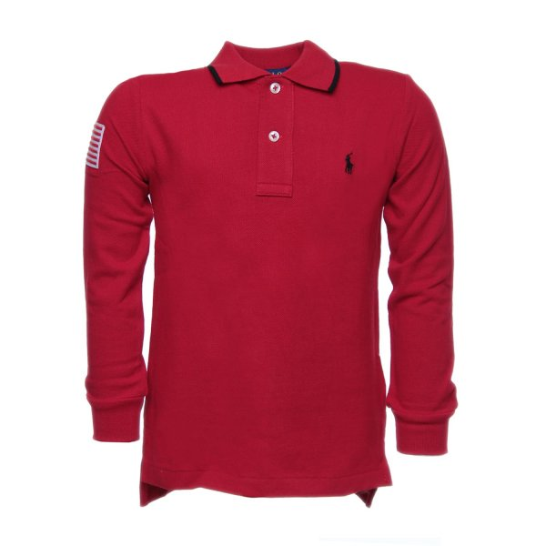 Ralph Lauren - POLO FLAG ROSSA RL BOY