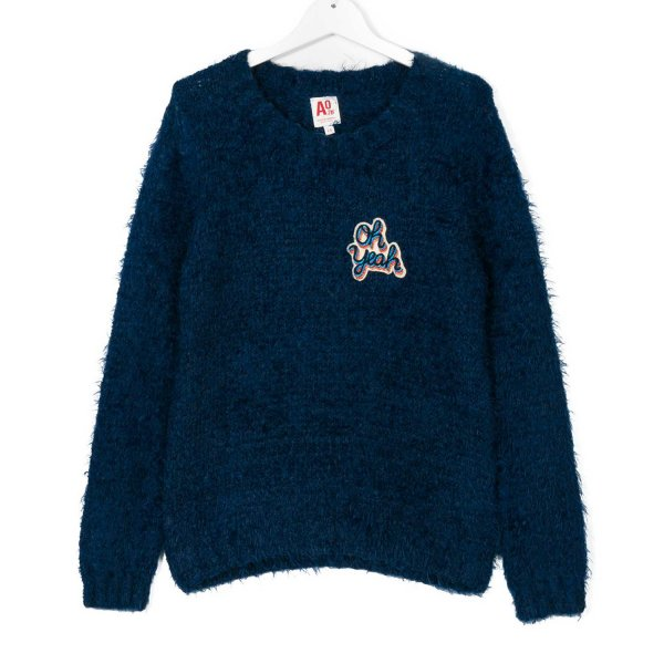 American Outfitters - PULLOVER GIRL BLU
