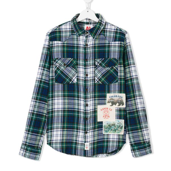 American Outfitters - CAMICIA SCOZZESE VERDE