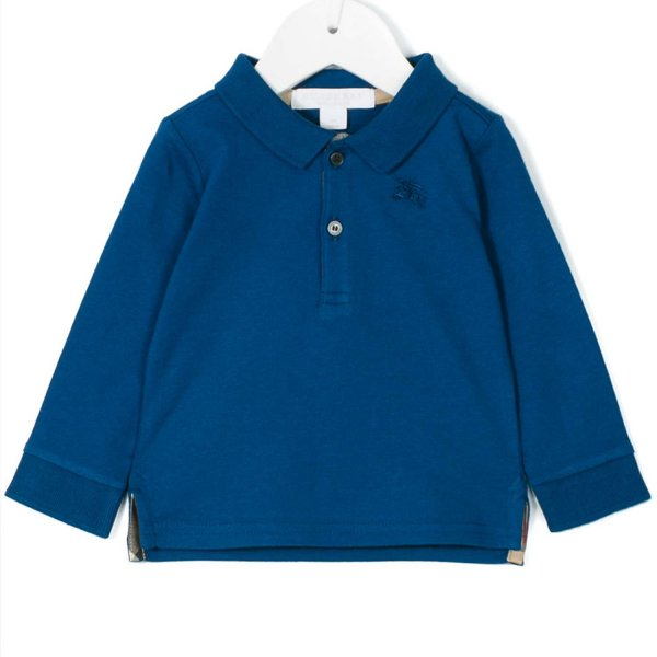 Burberry - POLO BLUETTE SCURO BIMBO