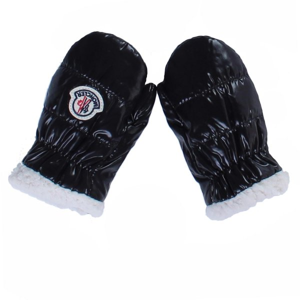 Moncler - MUFFOLE IN NYLON NERO BABY