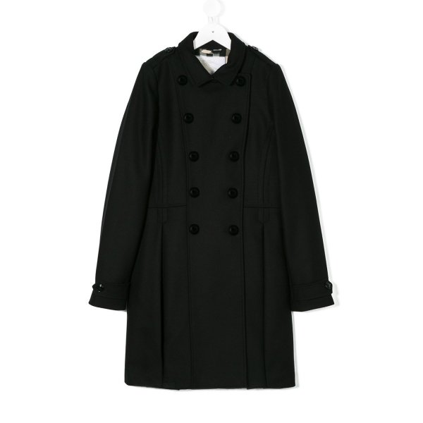Burberry - CAPPOTTO LANA NERO GIRL