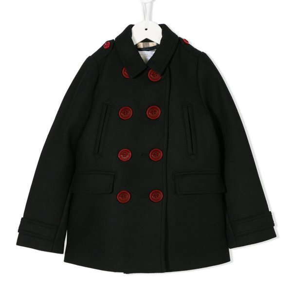 Burberry - CAPPOTTO DI LANA NERO GIRL