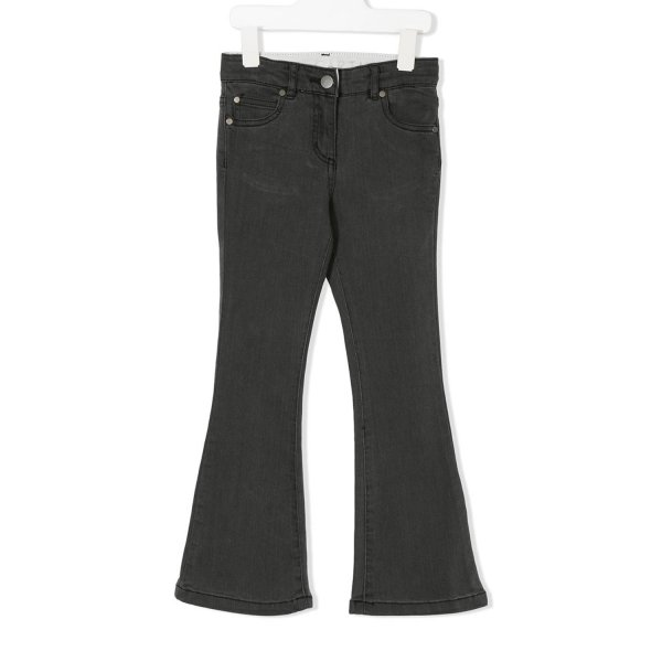 Stella Mccartney - JEANS NERO A ZAMPA