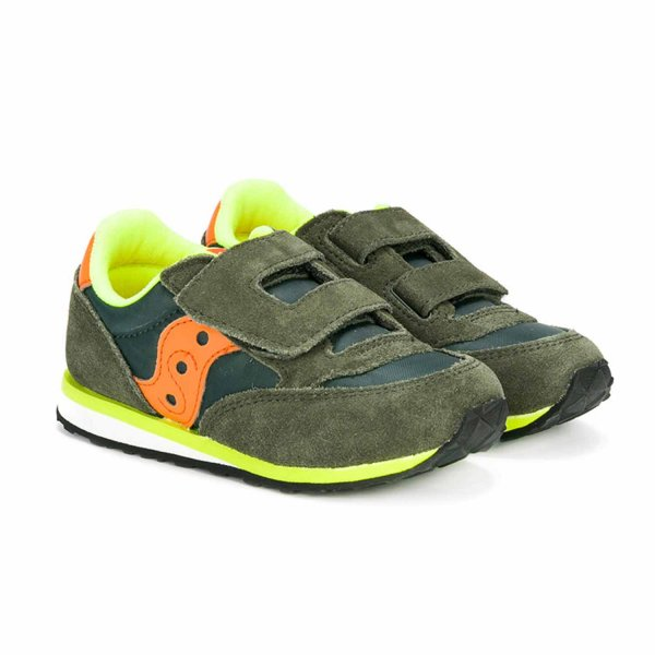 Saucony - Sneaker Baby Jazz HL Verde Orange