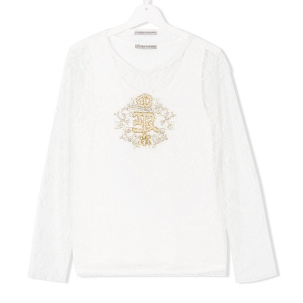 Ermanno Scervino - T-SHIRT PIZZO GIRL